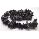 Black Tourmaline Tumbled Beads - for Jewellery Making