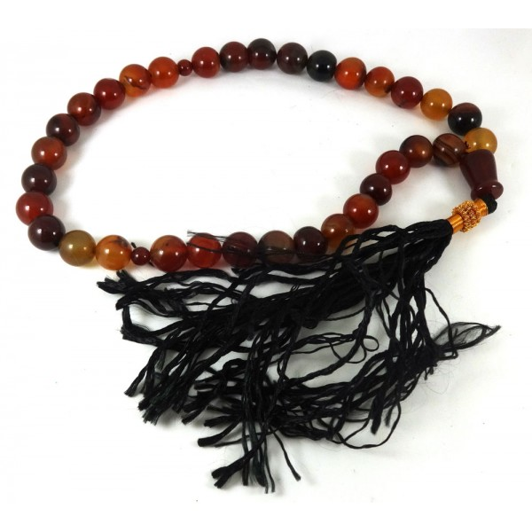 Carnelian Tisbih Misbaha Prayer Beads
