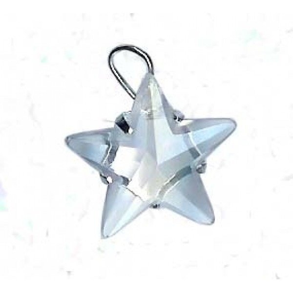 Carved Clear Quartz Star Pentacle Pendant