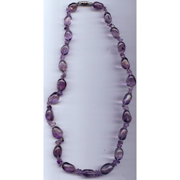 Amethyst Freeform & Chip Necklace