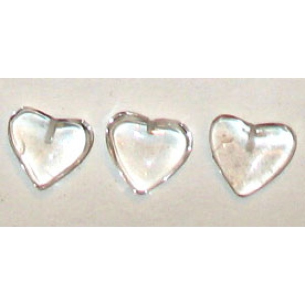 Quartz Crystal Heart Drilled - for Jewellery making