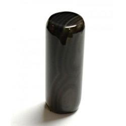 Dark Agate Cylinder Shape
