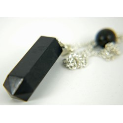 Faceted Black Agate Pendulum