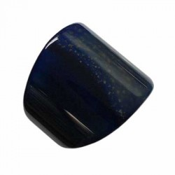 Carved Solid Blue Agate Ring Size V