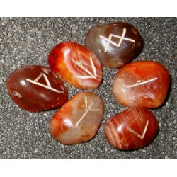 Mini Agate Crystal Rune Set