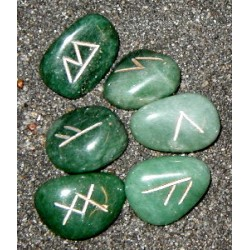 Mini Aventurine Crystal Rune Set