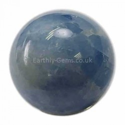 Small Blue Calcite Crystal Sphere