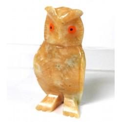 Orange Owl Carving