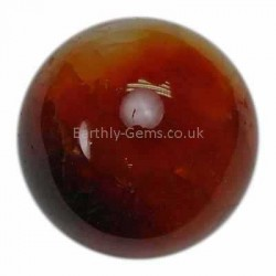 Small Carnelian Crystal Ball