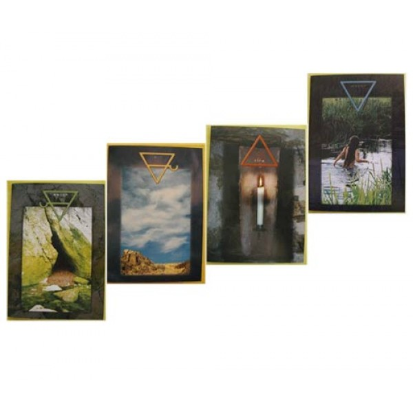 Set of 4 Elemental Design greeting cards