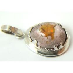 Fire Opal Necklace Pendant