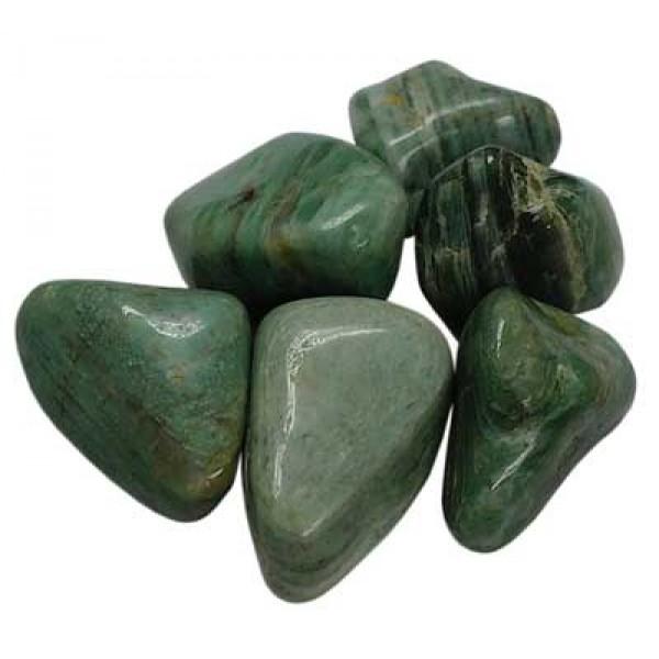 Green Dolomite tumblestones 26-30mm