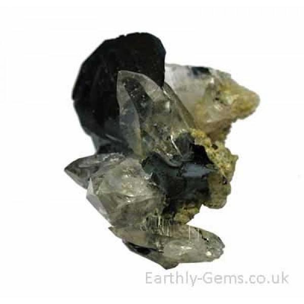 Alpine Quartz with Hematite Crystal