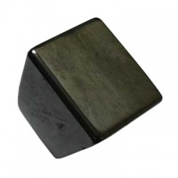 Solid Square Face Hematite Ring