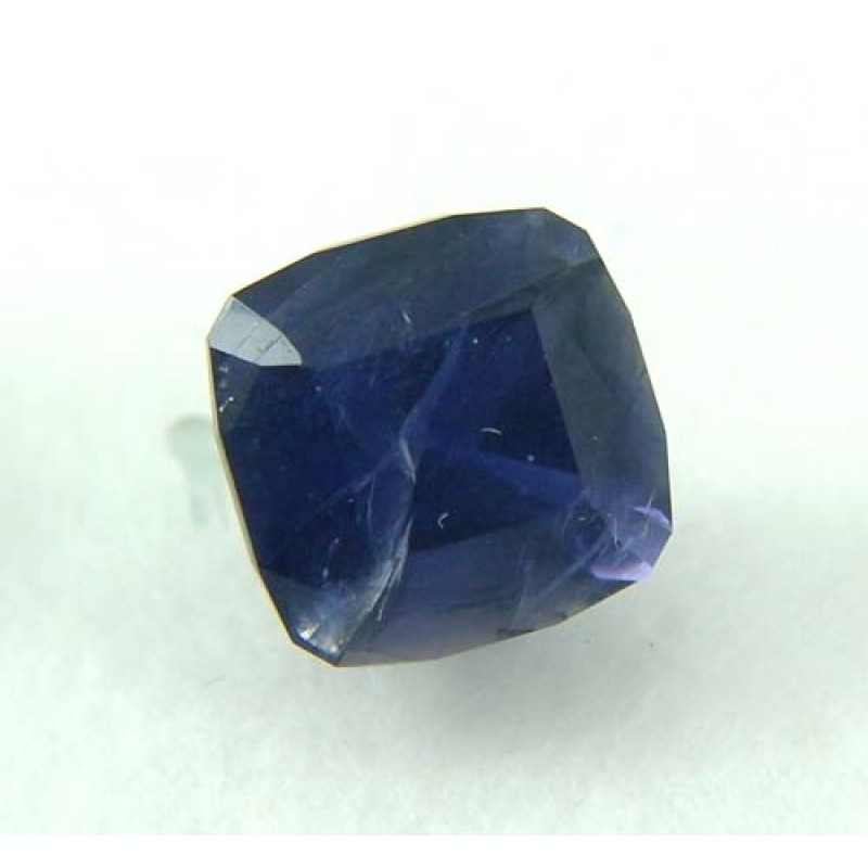 faceted iolite gemstone for jewellery