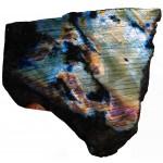 Blue and Purple Labradorite Polished Surface