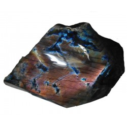 Colourful Upright Labradorite Polished Face