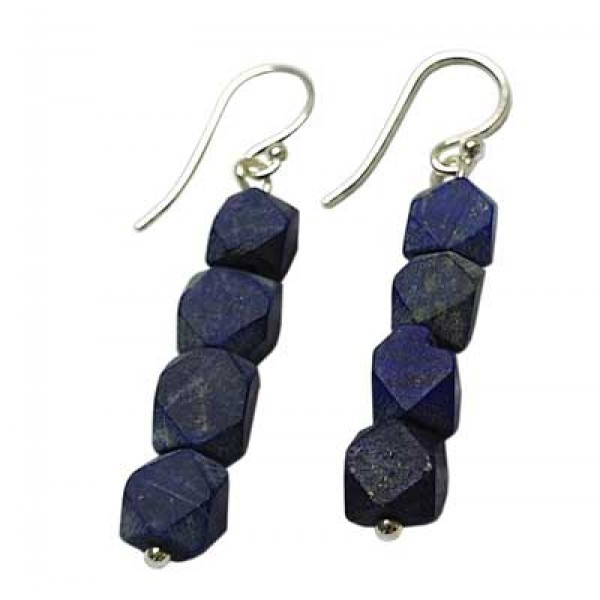 Lapis and Silver Earrings - Custom  design