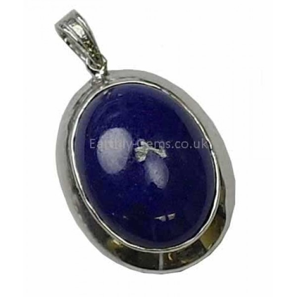 Lapis Lazuli Cabochon Silver Pendant