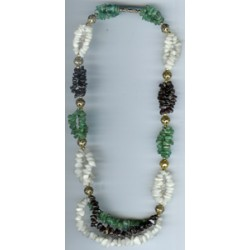 Mixed Gem Mutli Strand Chip Necklace