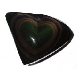 Single Rainbow Obsidian Heart
