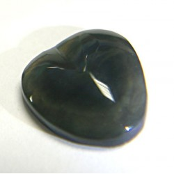 Small Rainbow Obsidian Carved Heart