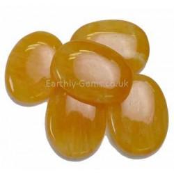 Orange Calcite Flat Tumblestones 35-39mm