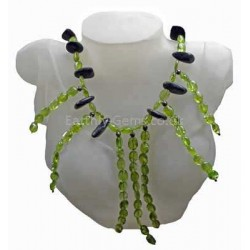 Peridot and Astrophyllite Necklace