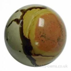 Jasper Polychrome Crystal Sphere
