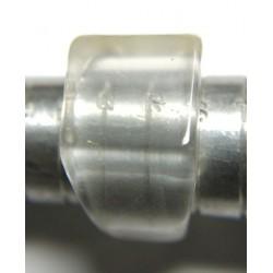 Chunky Clear Quartz Crystal Ring Size R