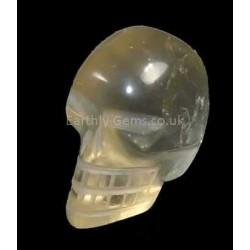 Golden Smokey Quartz Crystal Skull