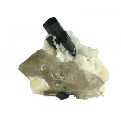 Tourmaline with Double Terminated Quartz Crystal