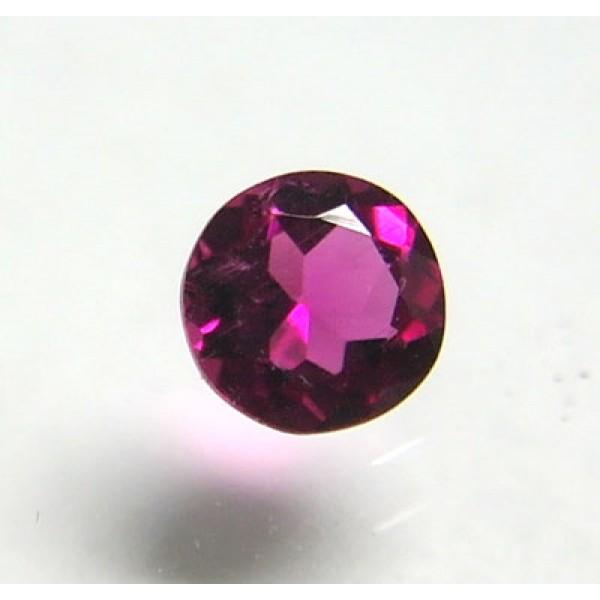 Faceted Rubellite Round Gemstone