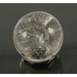 Lovely Silver Rutile Quartz Crystal Ball - with video clip