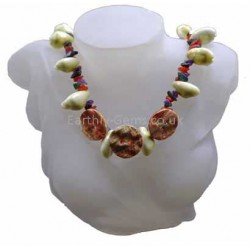 Shell and Crystal Necklace