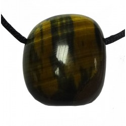 Chatoyancy Effect Tiger Eye Tumblestone Pendant