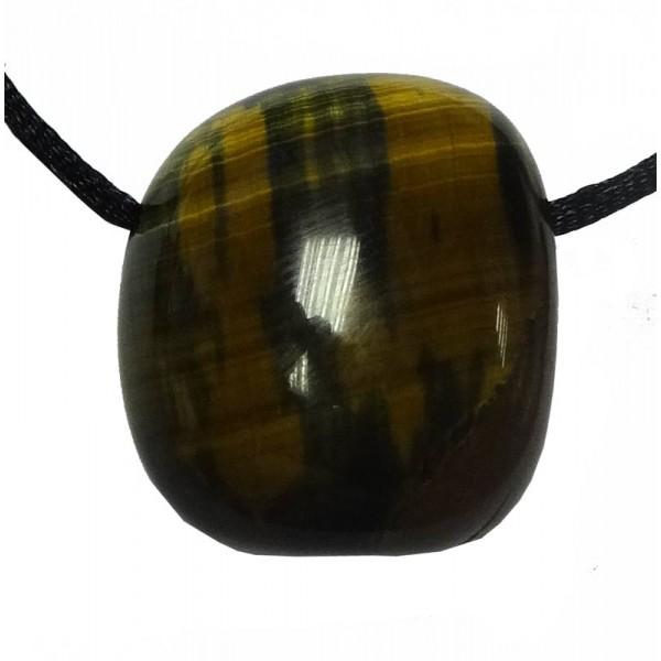 Chatoyancy Effect Tiger Eye Tumblestone Pendant