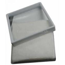 90mm Glass Lid White Gemstone Display Box