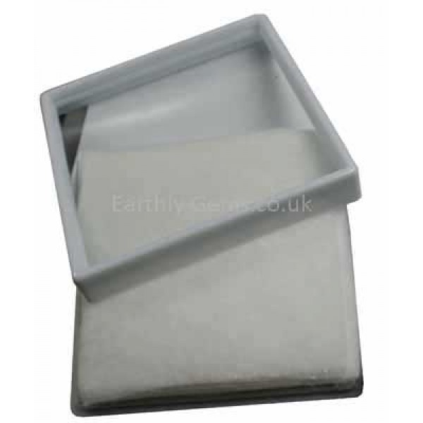 90mm Glass Lid White Gemstone Display Box