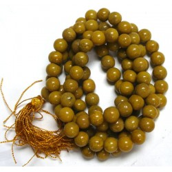Yellow Jasper Crystal Mala Beads