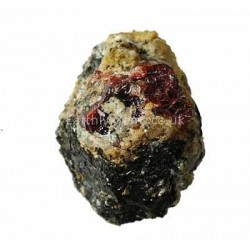 Red Zircon Crystal on Matrix