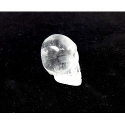 Small Carved Quartz Crystal Skull