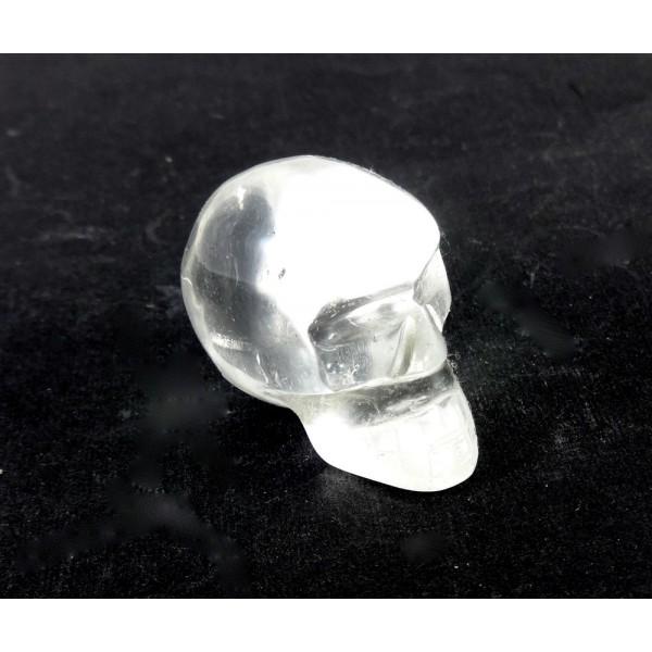 Carved Quartz Crystal Skull 27mm
