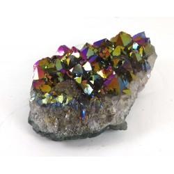 Titanium Flame Aura Quartz Cluster