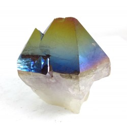Flame Titanium Aura Quartz Twin Point
