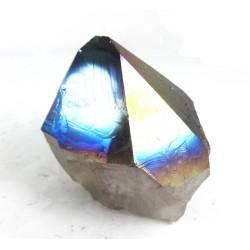 Flame Titanium Aura Quartz Point