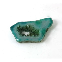 Blue Green Agate Freeform Druzy Slice