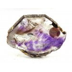Amethyst and Quartz Mineral Slice Super Seven