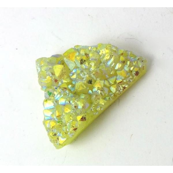 Sparkly Titanium Coloured Druzy Quartz Freeform