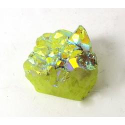 Titanium Coloured Druzy Quartz Freeform
